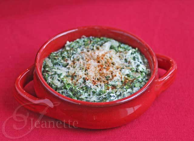 Skinny Hot Spinach Dip
