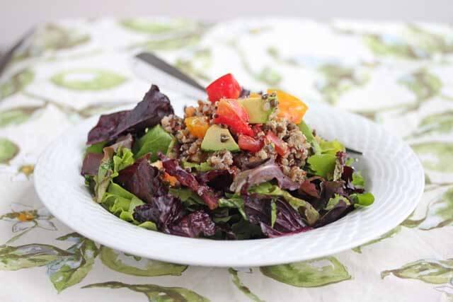 Quinoa Lentil Mixed Green Salad