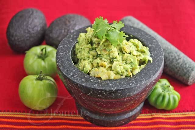 Roasted Green Tomato Guacamole Salsa