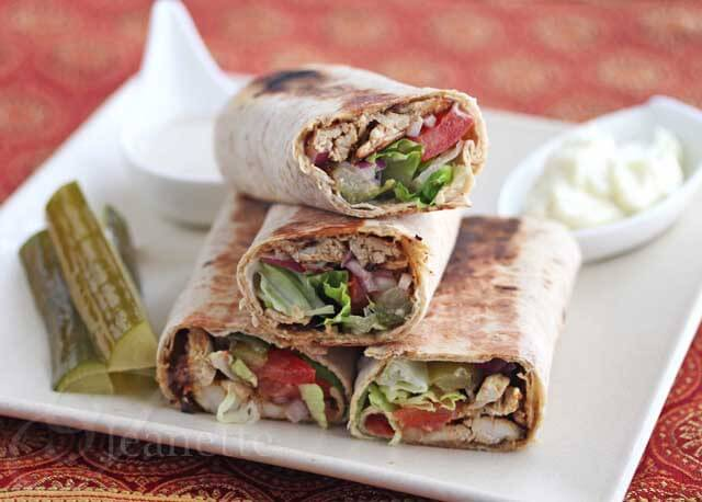 Spiced Shawarma Chicken Wraps Recipe {An Edible Mosaic}