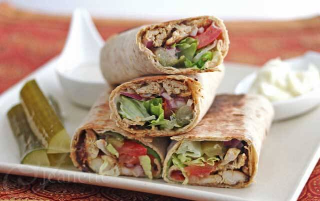 Shawarma Chicken Wraps 