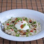 Asian Inspired Savory Oatmeal © Jeanette's Healthy Living #oatmeal