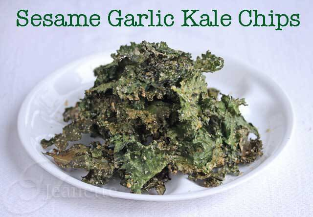 Sesame Garlic Kale Chips Recipe