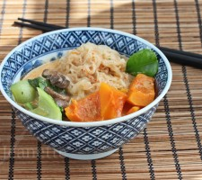 Spicy Thai Coconut Winter Squash Noodle Soup
