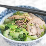 Leftover Turkey Soba Noodle Soup