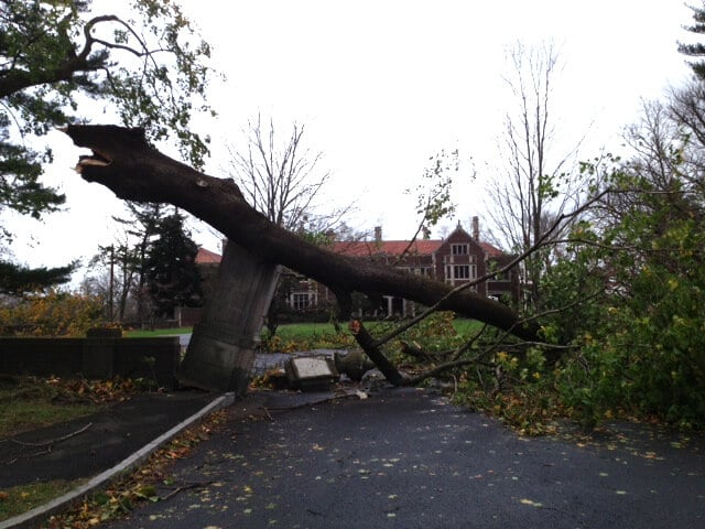 Hurricane Sandy Damage - Waveny House
