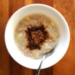 Hot Apple Cinnamon Oatmeal during Hurricane Sandy