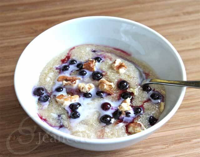 Creamy Amaranth Porridge © Jeanette's Healthy Living