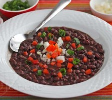 Cuban Black Bean Soup (Frijoles Negros) © Jeanette's Healthy Living