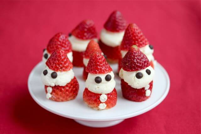 Strawberry Whipped Cream Santas Recipe - Jeanette's Healthy Living