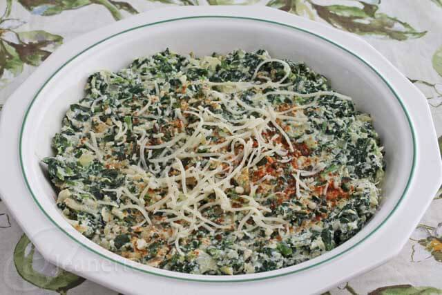 Skinny Hot Spinach and Artichoke Dip with Fontina Cheese Recipe