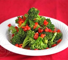 Stir Fry Broccoli and Red Peppers © Jeanette's Healthy Living