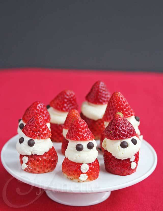 Strawberry Whipped Cream Santas © Jeanette's Healthy Living