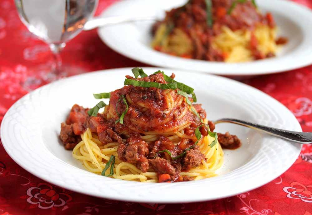 Crockpot Turkey Bolognese Sauce © Jeanette's Healthy Living