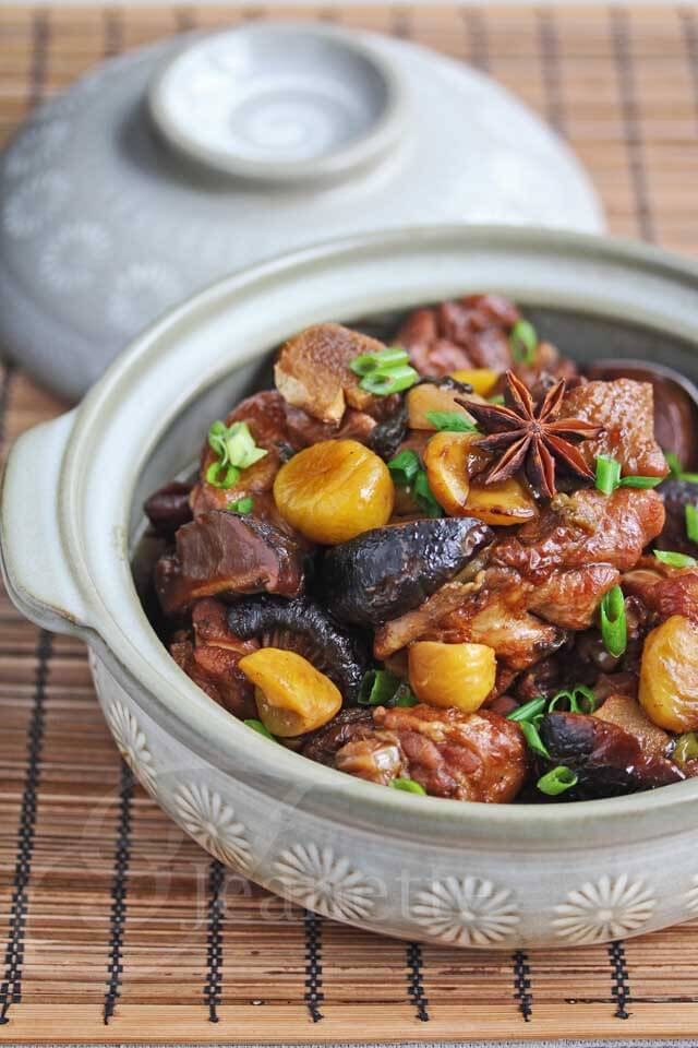 Chinese Braised Chicken with Chestnuts Recipe