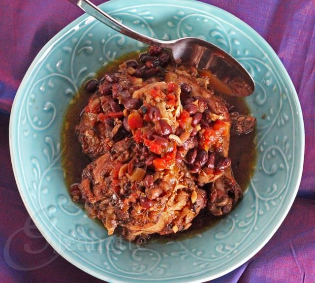 Crockpot Jamaican Spiced Chicken Stew © Jeanette's Healthy Living