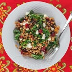 Warm Farro Kale Winter Fruit Salad