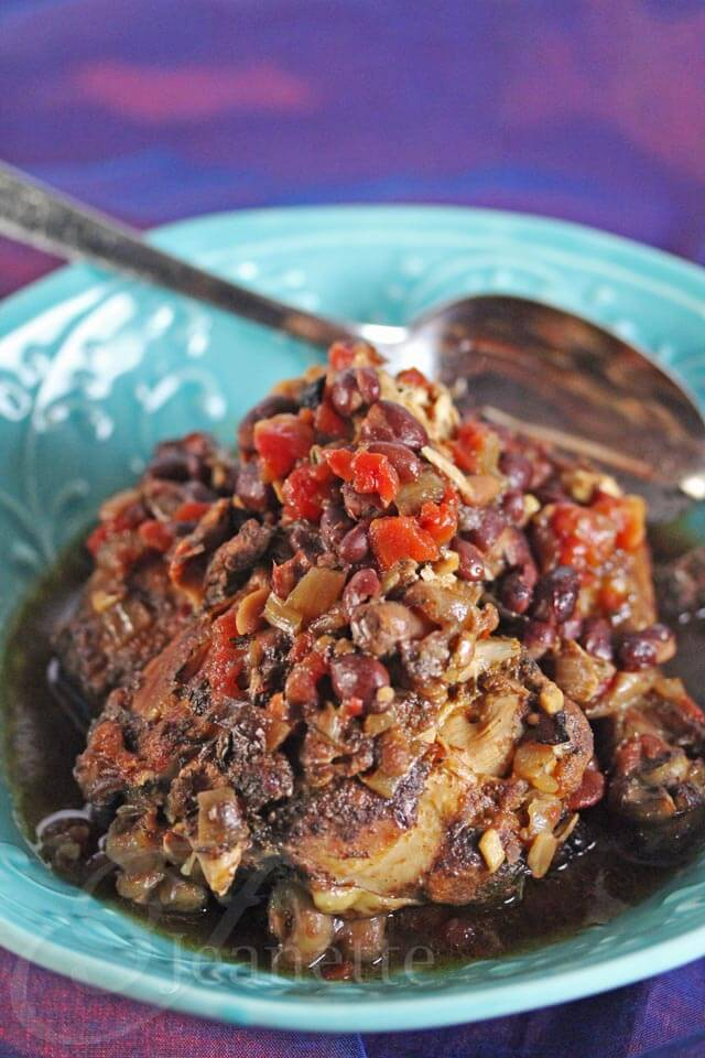 Slow Cooker Jamaican Spiced Chicken Stew © Jeanette's Healthy Living