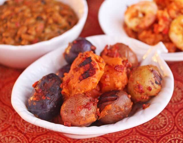 Grilled Sweet Potatoes and Small Potatoes