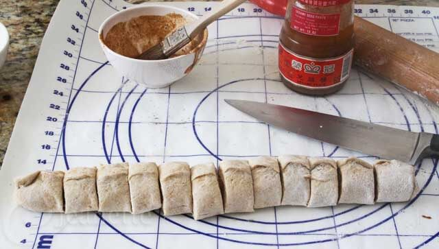 Cutting Shao Bing Dough