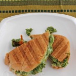 Grilled Cheese Sandwich with Kale Artichoke Pumpkin Seed Pesto © Jeanette's Healthy Living