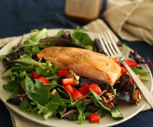 Maple-Glazed-Salmon-Salad