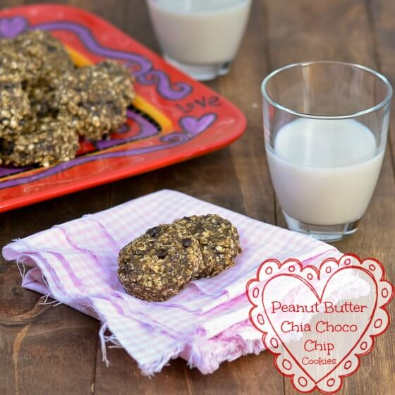 Peanut Butter Chia Choco Chip Cookies {Gluten-Free and Heart Healthy 2013}