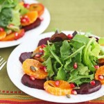 Roasted Beet Orange Pumpkin Seed Green Salad © Jeanette's Healthy Living