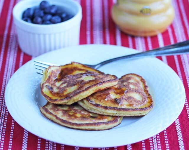Coconut Flour Dark Chocolate Chip Pancakes © Jeanette's Healthy Living