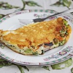 Fluffy Egg Broccoli Cheese Omelet © Jeanette's Healthy Living