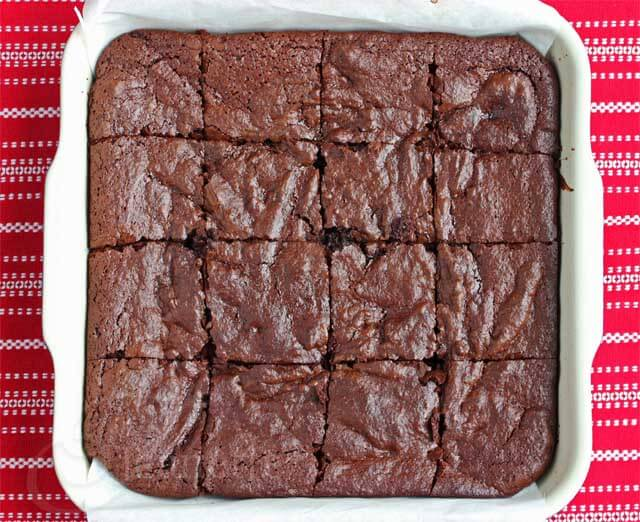Pan of Insanely Good Chocolate Brownies © Jeanette's Healthy Living