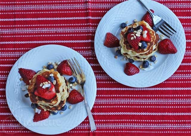 Gluten-Free Muesli Pancakes with Fresh Berries Recipe