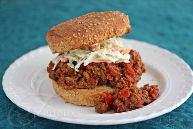 Healthy Turkey Mushroom Sloppy Joes and Greek Yogurt Coleslaw Recipe