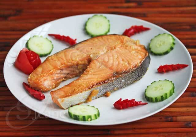 Easy Miso Glazed Salmon © Jeanette's Healthy Living