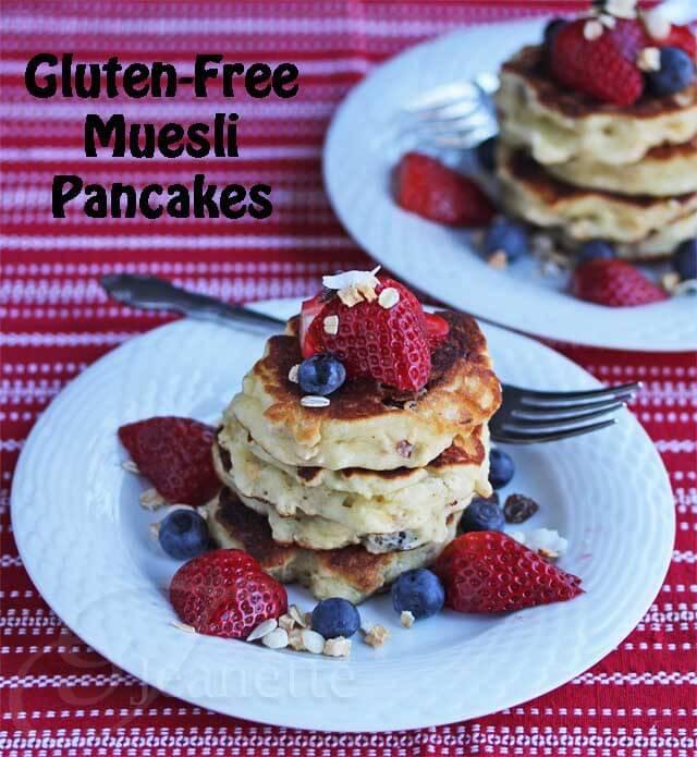 Gluten-Free Muesli Pancakes © Jeanette's Healthy Living