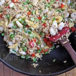 Shrimp Fried Rice in a wok  Jeanette&#039;s Healthy Living