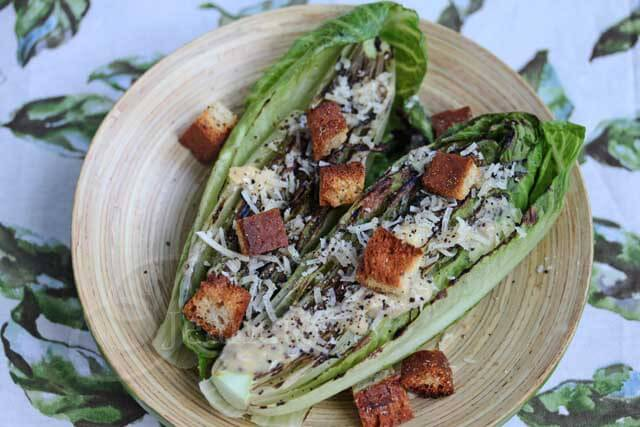 Grilled Caesar Salad with Light Caesar Salad Dressing Recipe ...