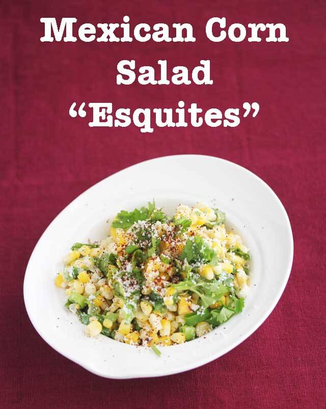 Mexican Corn Salad Esquites © Jeanette's Healthy Living