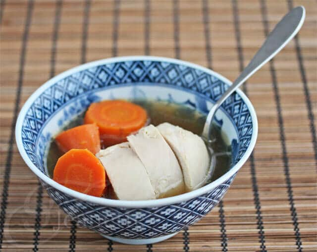Low Residue Chicken Carrot Soup - Low Residue Diet Recipes