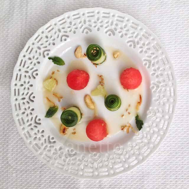 Composed Burmese Cucumber Watermelon Salad © Jeanette's Healthy Living
