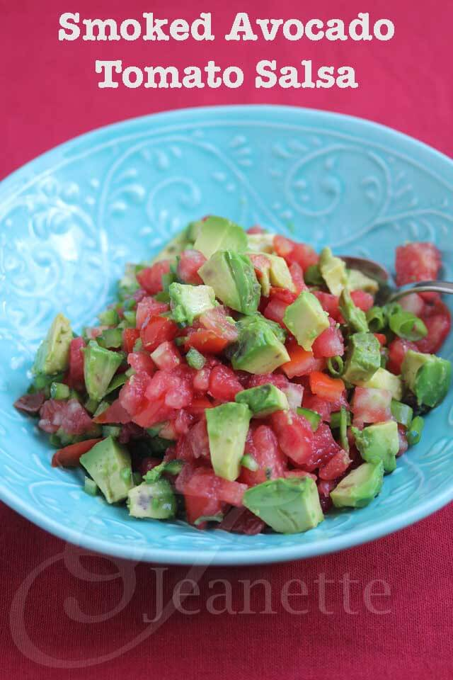 Smoked Avocado Tomato Salsa © Jeanette's Healthy Living