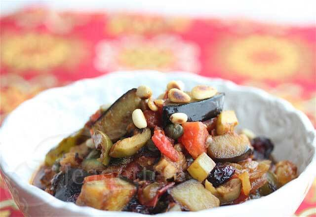 Eggplant Caponata © Jeanette's Healthy Living