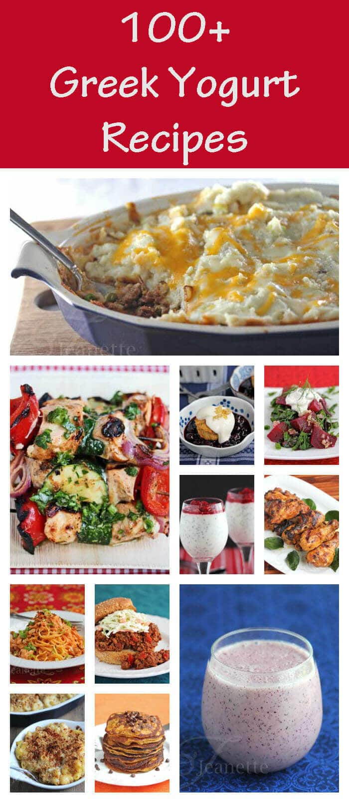 100+ Greek Yogurt Recipes - How To Use Greek Yogurt in Sweet and Savory Recipes as a Healthy Substitute