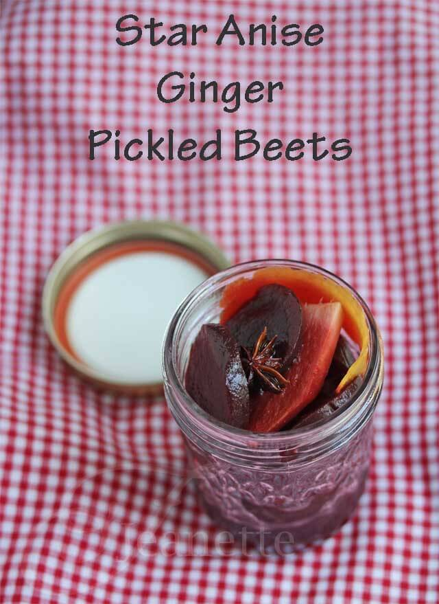 Star Anise Ginger Pickled Beets