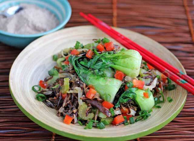 Wild Rice Stir Fry © Jeanette's Healthy Living