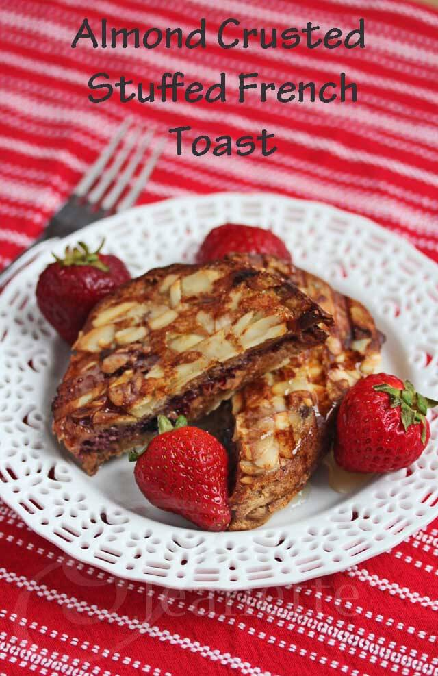 Almond Crusted Stuffed French Toast  © Jeanette's Healthy Living