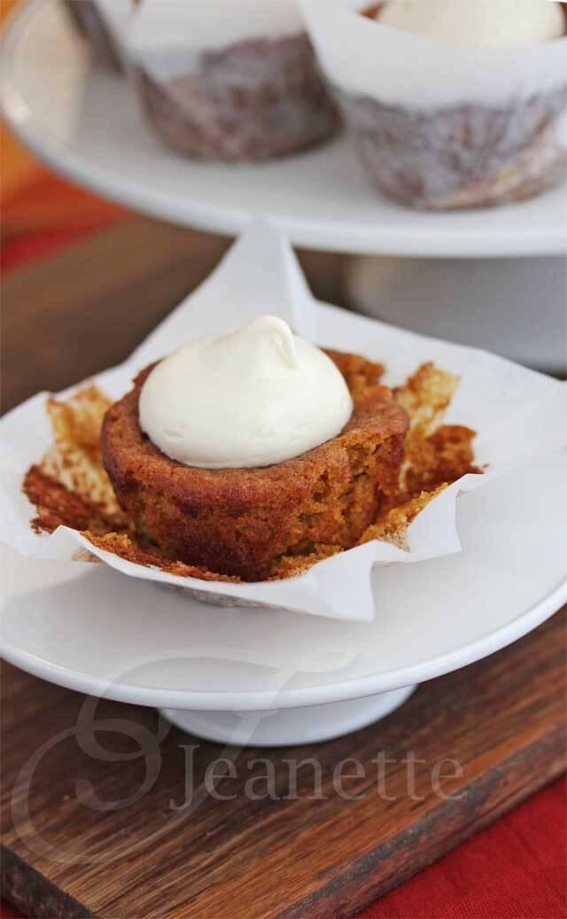 Gluten-Free Almond Sorghum Pumpkin Cupcake Recipe - Jeanette's Healthy ...