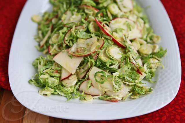 Brussels Sprout Apple Salad © Jeanette's Healthy Living