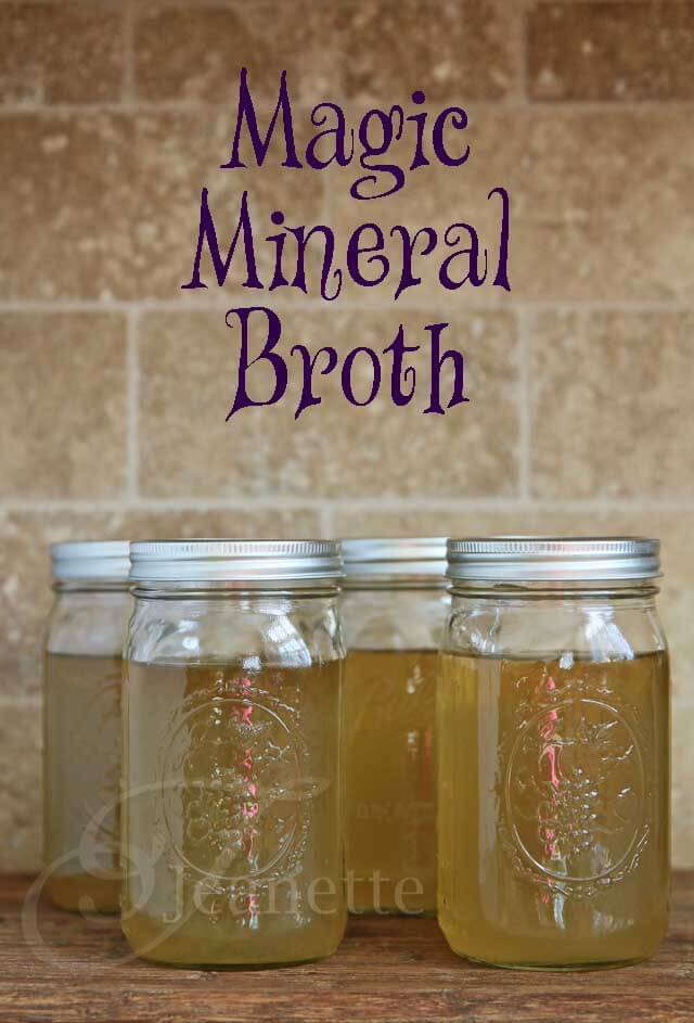 Magic Mineral Broth in Jars