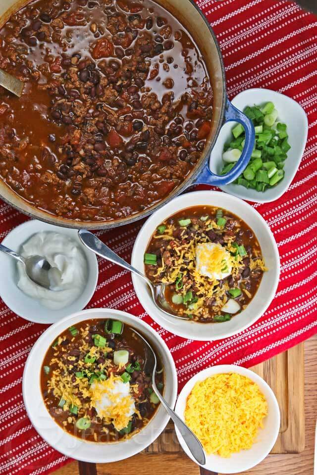 Slow Cooker Black Bean Turkey Chili